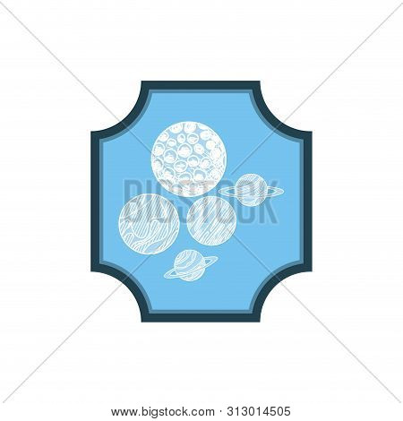 Frame With Planets Of The Solar System Vector Illustration Design