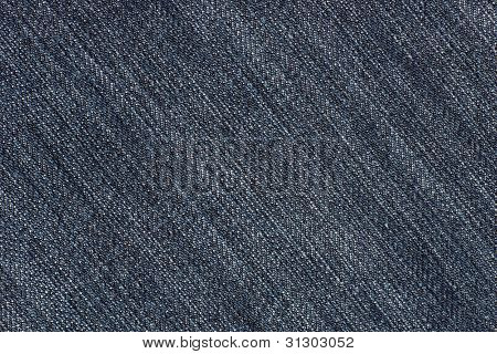 Blue Jeans Denim Fabric Texture (diagonal)