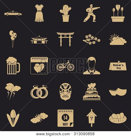 Floret Icons Set. Simple Set Of 25 Floret Icons For Web For Any Design