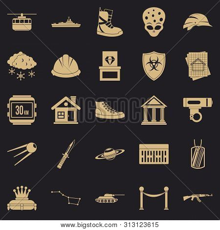 Slam Icons Set. Simple Set Of 25 Slam Icons For Web For Any Design