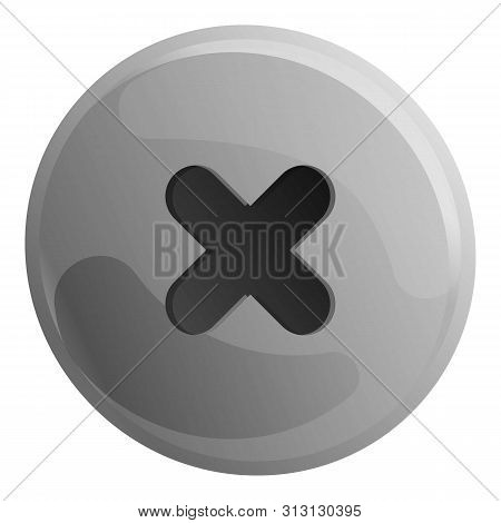Phillips Head Screw Icon. Cartoon Of Phillips Head Screw Icon For Web Design Isolated On White Backg