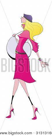 Girl In Pink Coat