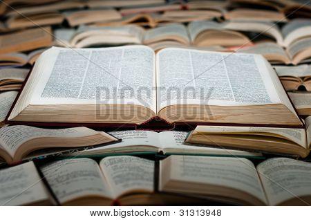 Big Book On Heap Of Books