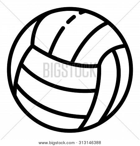 Volleyball Ball Icon. Outline Volleyball Ball Icon For Web Design Isolated On White Background