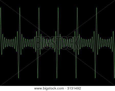 Green Modulated Sine Wave