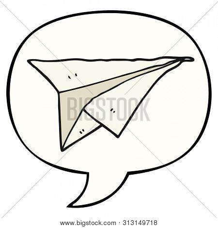Cartoon Paper Airplane Image Photo Free Trial Bigstock