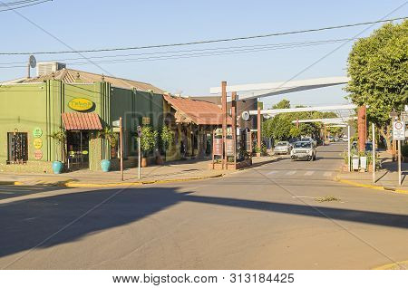 Bonito - Ms, Brazil - June 24, 2019: Commerce Around The Main Street Of The City On Downtown, Corone
