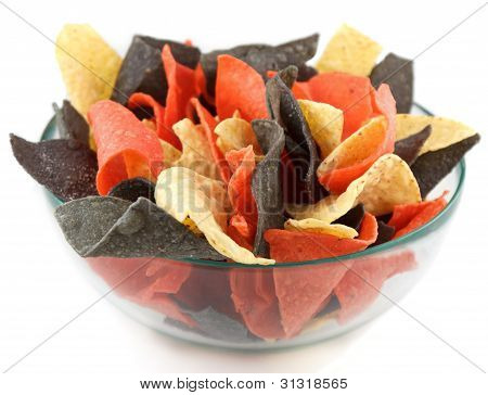 Bowl with mexican style chips