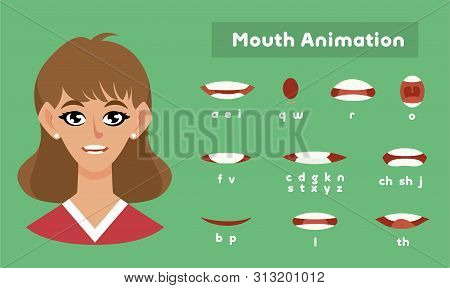 Mouth Animation For A Girl, Female Pronunciation