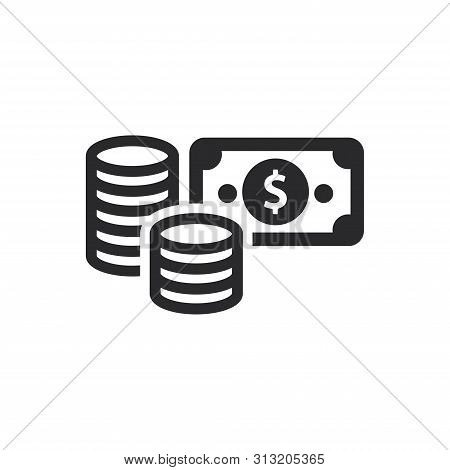 Money Icon Isolated On White Background. Money Icon In Trendy Design Style For Web Site And Mobile A