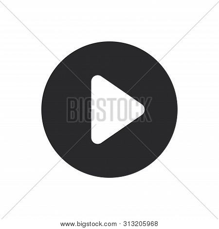 Movie Player Play Button Icon Isolated On White Background. Movie Player Play Button Icon In Trendy