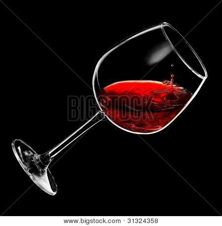 red wine drops into a glass