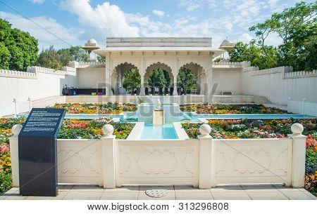 Hamilton, New Zealand - December 08 2017 : The Indian Char Bagh Garden In Hamilton Gardens An Iconic