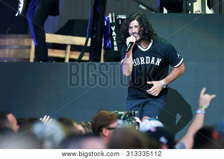 WANTAGH, NY - JUL 20: Dan Smyers of Dan + Shay perform in concert during the