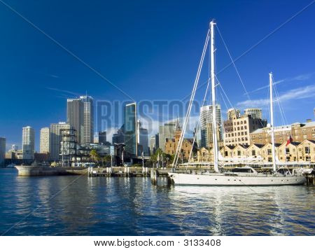 Sydney City And Yacht