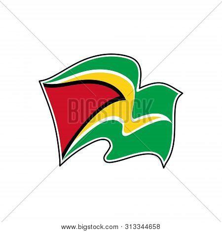 Flag Of Guyana. Guyana Vector Flag. National Symbol Of Guyana