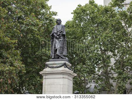London, United Kingdom, 17th July 2019, Statue Of Former Prime Minister William Gladstone