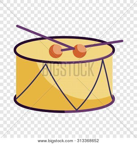 Drum And Drum Sticks Icon. Cartoon Illustration Of Drum And Drum Sticks Vector Icon For Web