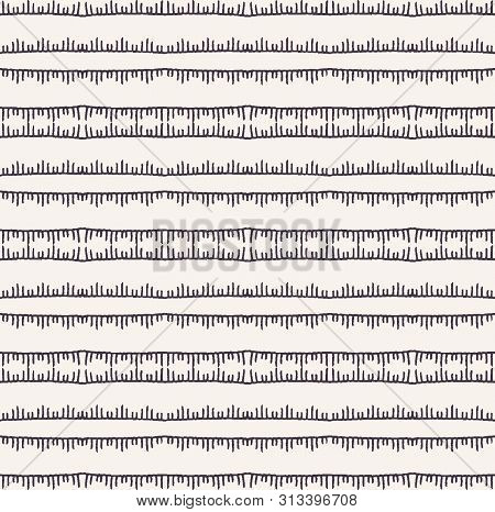 Decorative Embroidery Stitching Stripes Pattern. Victorian Needlework Seamless Vector Background. Ha