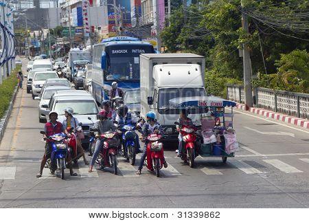 Thailand, Pattaya, Traffic