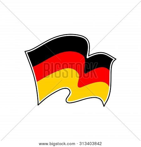 The Flag Of German. Flagge Deutschlands. Vector Illustration. German Tricolour. Berlin, Munich, Hamb