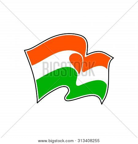 The National Flag Of Niger. Vector Illustration. Niamey