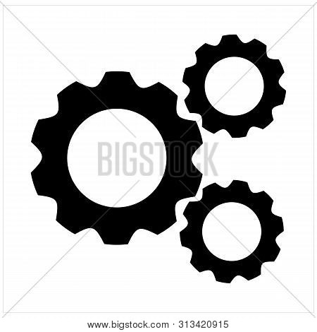 Gears Icon Isolated On White Background. Gears Icon In Trendy Design Style. Gears Vector Icon Modern