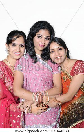 Group of Indian ladies / females.