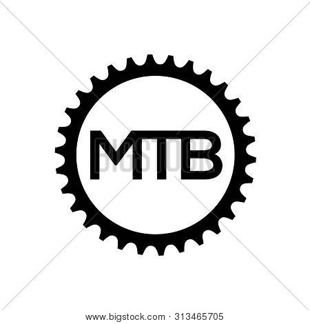 Bicycle Chainring. Vector Mountain Bike Gear Logo Template.