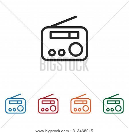 Radio Icon Isolated On White Background. Radio Icon In Trendy Design Style. Radio Vector Icon Modern