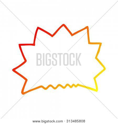 warm gradient line drawing of a cartoon big  bang explosion