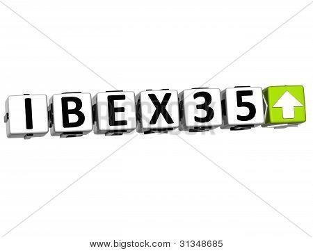 3D Ibex35 Stock Market Block Text