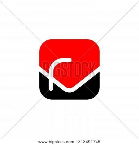 Letter Vr Simple Squar Elogo Vector Unique Unusual Simple Luxury Elegant Design Concept