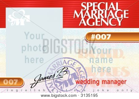 Identity Card Special Marriage Agency