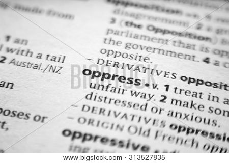 Word Or Phrase Oppress In A Dictionary