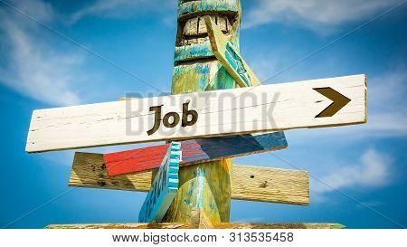 Street Sign To Job