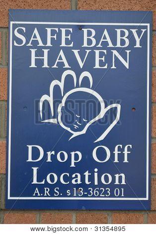 Safe Baby Haven Sign