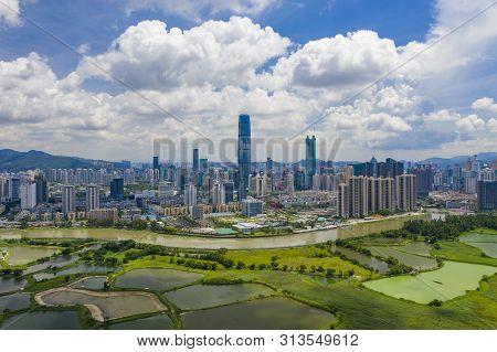 Aerial View Of Shenzhen Cbd In China