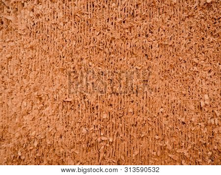 Used Cat Scratcher Texture. Cat Cardboard Toy For Scratching And Playing, Close Up View