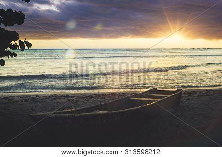 Travel Vacation Tropical Destination. Tropical Beach Landscape. Travel Vacations Destination. Travel