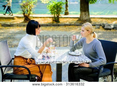 Togetherness And Female Friendship. True Friendship Friendly Close Relations. Trust Her. Girls Frien