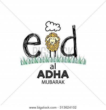 Muslim Community Festival Eid-ul-adha Celebrations With Cute Sheep