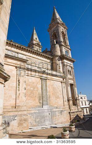 Saints Cosmas and Damian Basilica. Alberobello. Puglia. Italy. poster