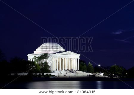Jefferson Memorial In Washington Dc At Dusk