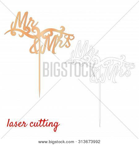 Sign Mr Mrs Cake Vector Photo Free Trial Bigstock