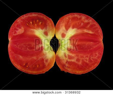 Bisected Tomato
