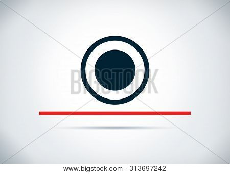 Record Icon Isolated On Abstract Flat Background Design Illustration