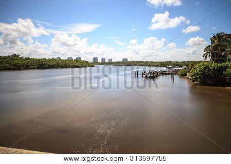 Big Hickory Pass Smooth Waterway In Bonita Springs, Florida