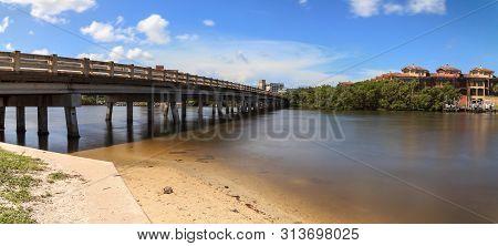 Bridge Over Big Hickory Pass Smooth Waterway In Bonita Springs