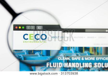 Richmond, Virginia, Usa - 26 July 2019: Illustrative Editorial Of Ceco Environmental Corp Website Ho